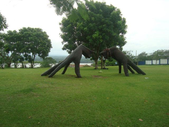 sculpture of hands in Calabar