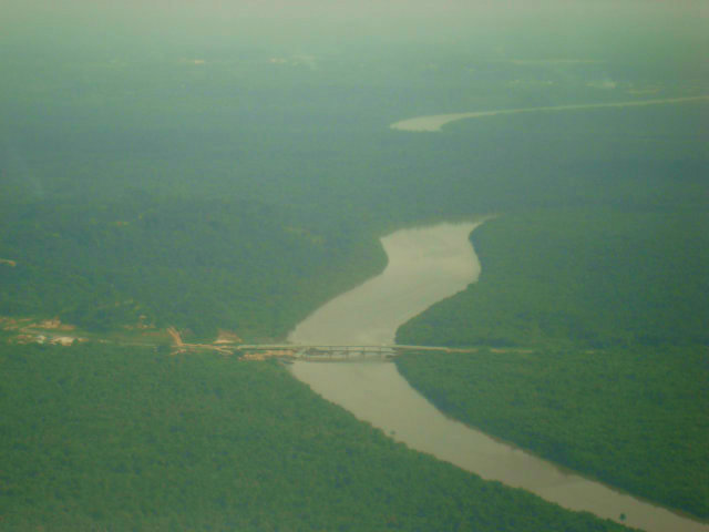 aerial view of the calabar river