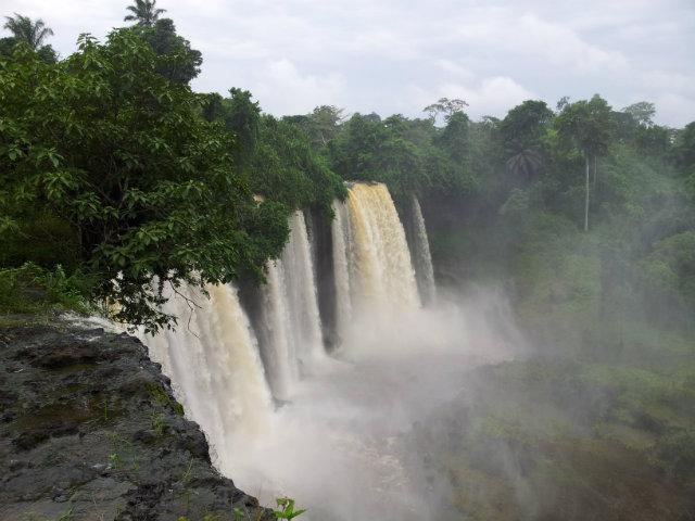 agbokim waterfalls in etung cross river state nigeria